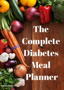 Diabetes diet planner to make meal prep easier