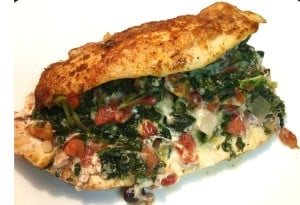 cheesy spinach and rotel stuffed chicken