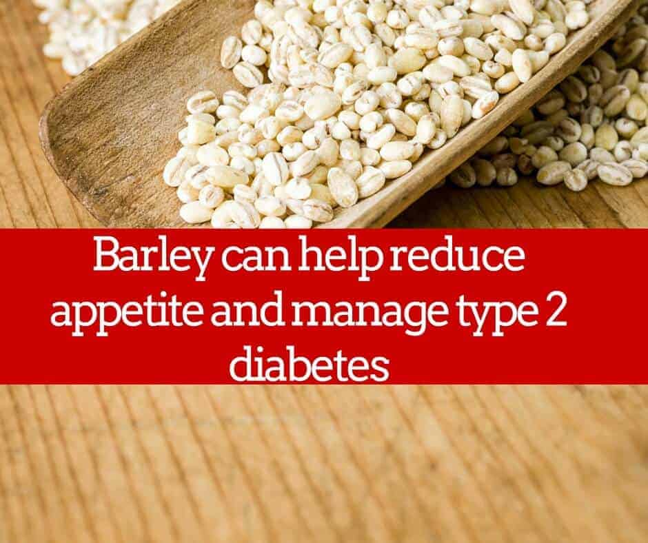 barley can help manage type 2 diabetes