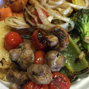Grilled veggies are a delicious low-carb side dish.
