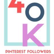 40,000 pinterest followers!