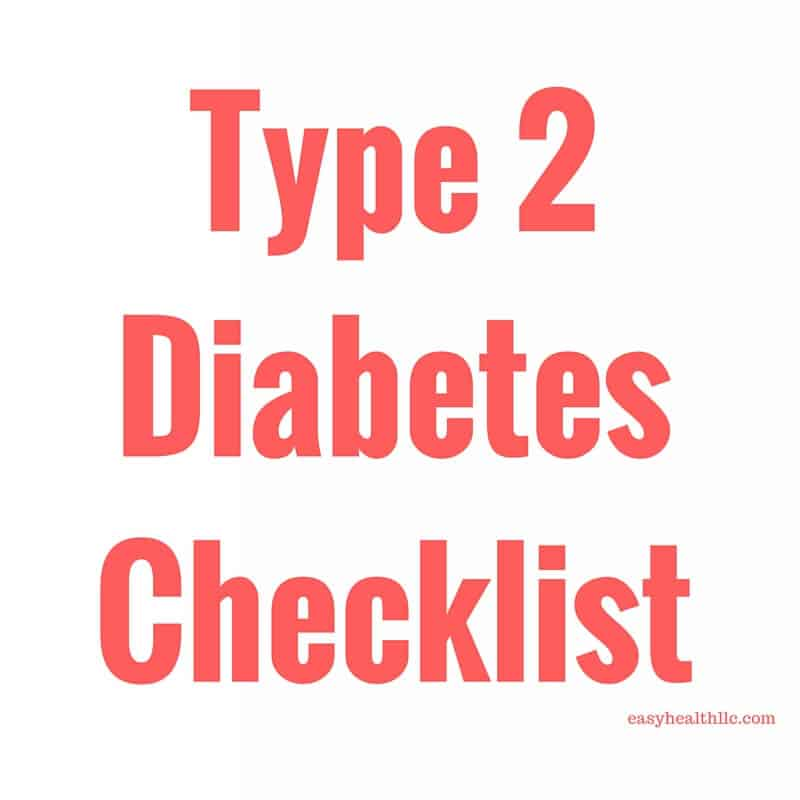 Diabetes Checklist for Controlling Glucose Levels