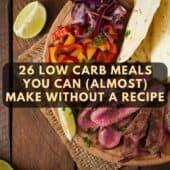 low carb steak wrap on platter