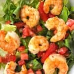 cajun shrimp on salad