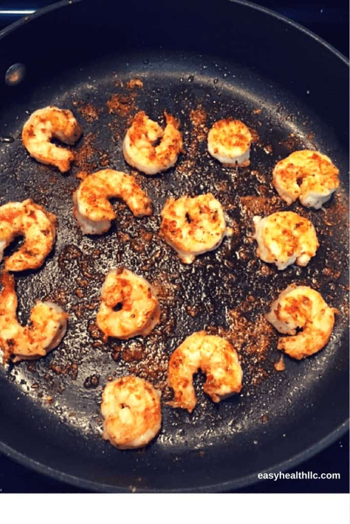 Low Carb Cajun Shrimp in Skillet