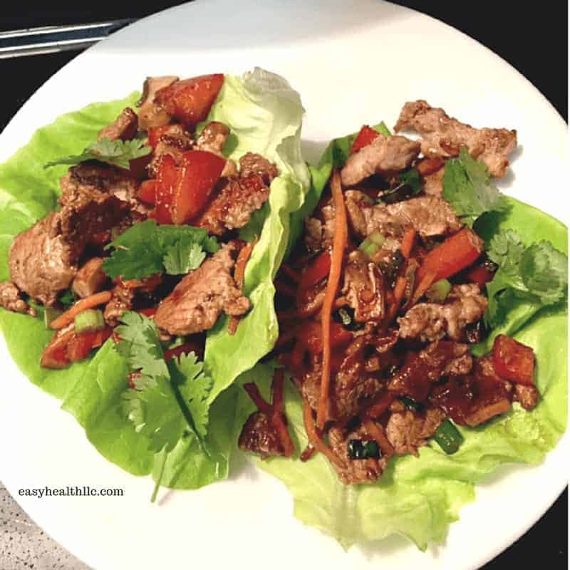 Low Carb Pork Tenderloin Lettuce Wrap