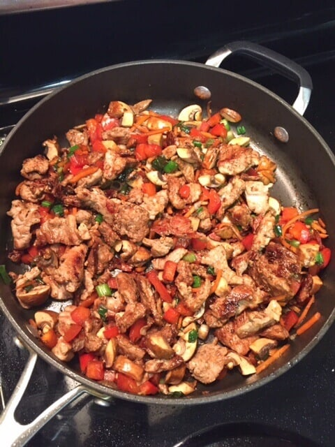 Low Carb Pork Lettuce Wrap- filling