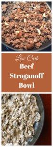 low carb beef stroganoff bowl