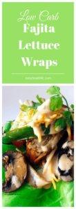low carb pork tenderloin fajita lettuce wraps