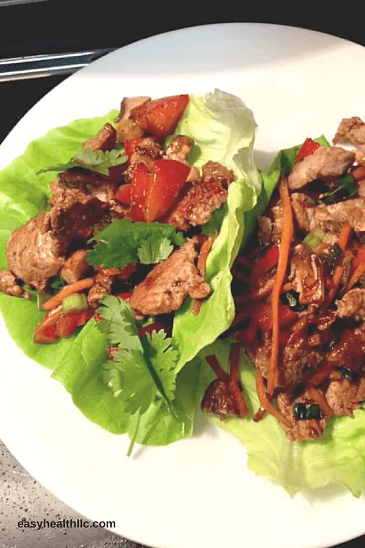 Low Carb Pork Lettuce Wraps