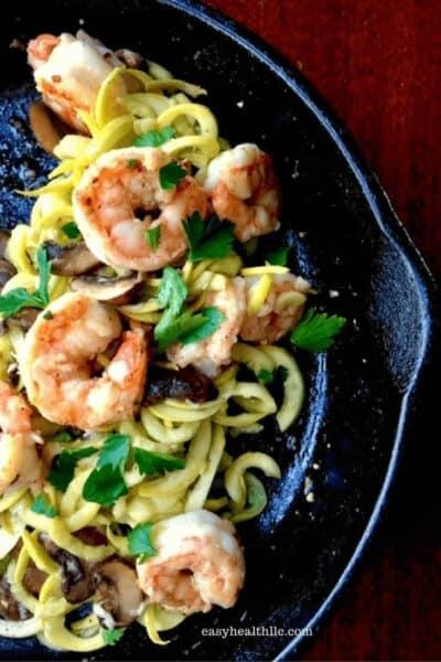 Low Carb Garlic Butter Shrimp Bowl