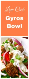 low carb gyro bowl