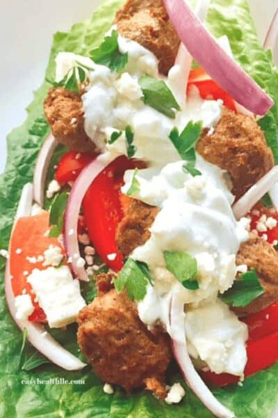 Low Carb Gyros Bowl