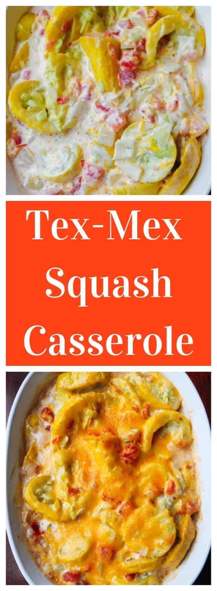 Cheesy, creamy and low carb, Tex Mex Squash Casserole makes the perfect side dish.
