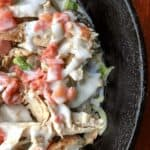 mexican chicken in iron skillet