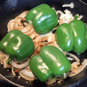 low carb philly cheesesteak stuffed peppers