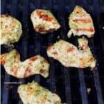 pesto chicken on grill