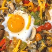 breakfast hash with egg