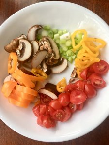 fresh veggies for breakfast skillet