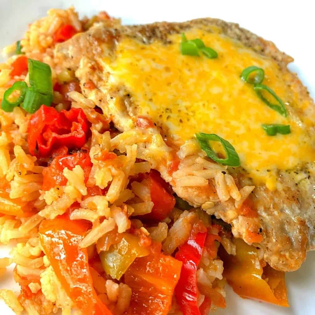 pork chops and mexican rice