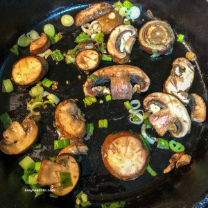 sautéed mushrooms and onions