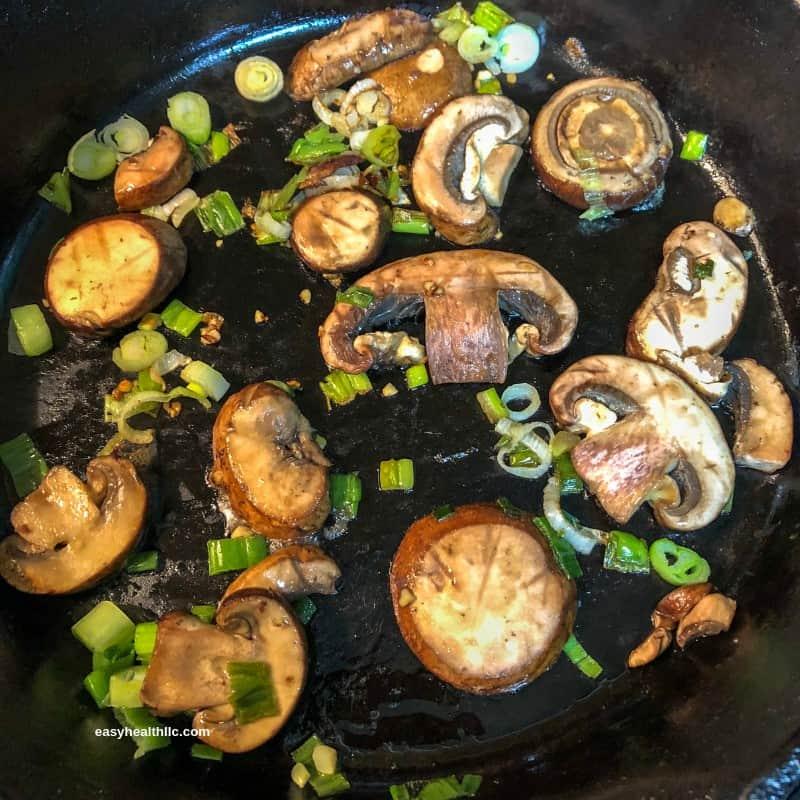sautéed mushrooms and onions