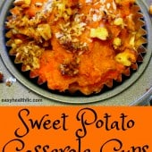 sweet potato casserole in muffin cup