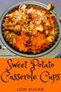 sweet potato casserole in muffin cup