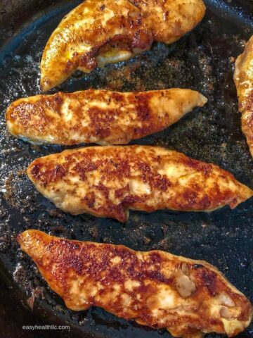chicken tenders in skillet