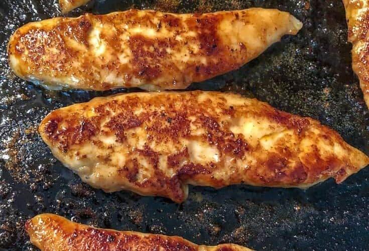 chicken tenders in skillet