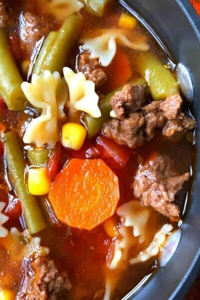 Hamburger Vegetable Soup