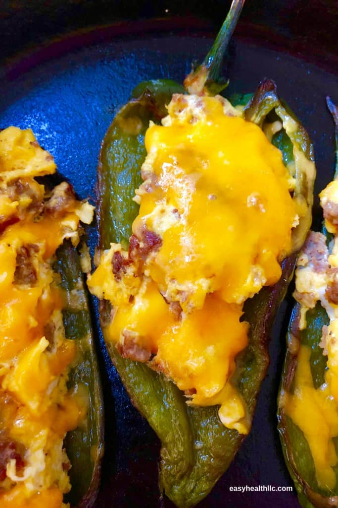egg stuffed poblanos from oven