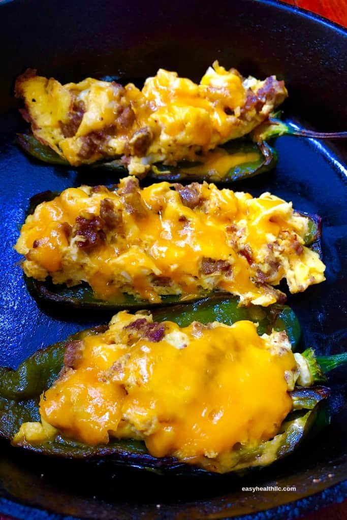 Low Carb Sausage Stuffed Poblanos