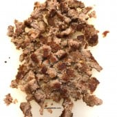 cooked and crumbled sausage