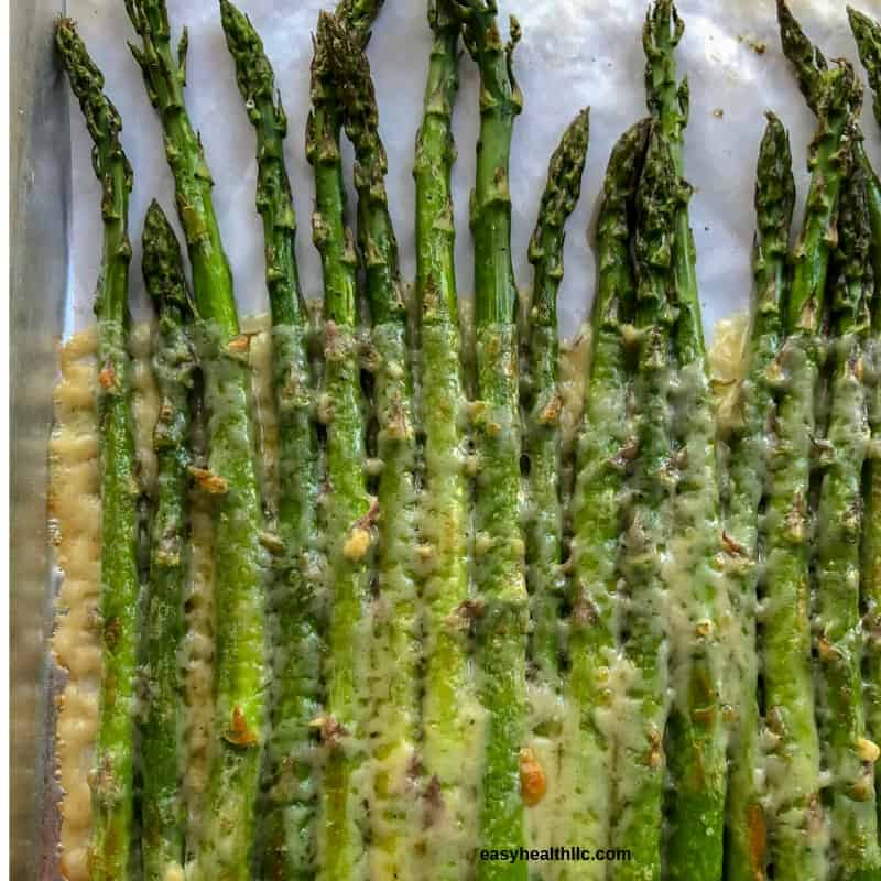 asparagus with melted cheese