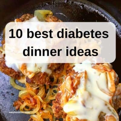 diabetes dinner ideas graphic