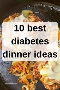 best diabetes dinner recipes graphic