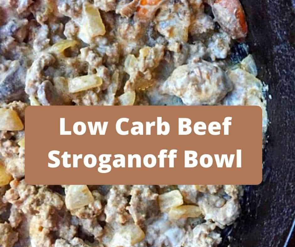 beef stroganoff in skillet