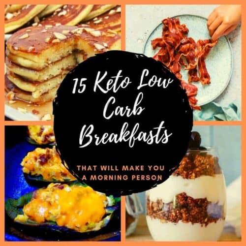keto low carb pancakes, bacon, parfait stuffed pepper