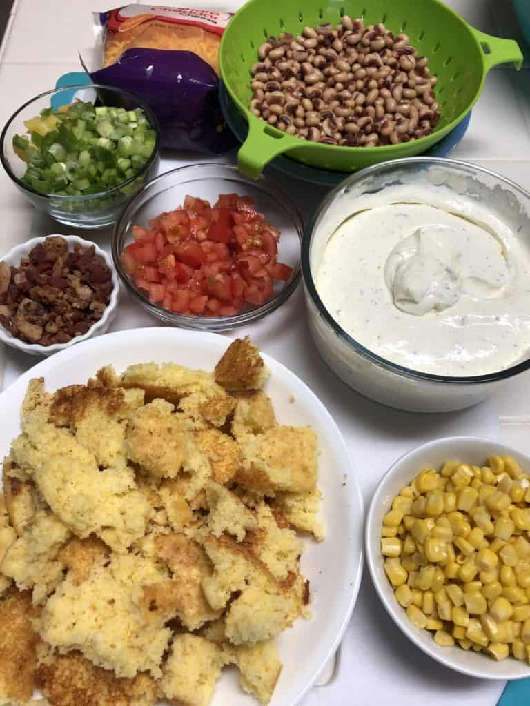cornbread salad ingredients