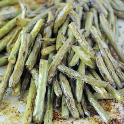 roasted green beans of pan