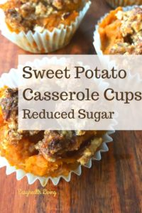 sweet potato casserole reduced sugar
