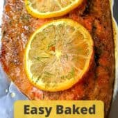 salmon with lemon slices