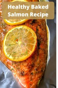 baked salmon filet with lemon
