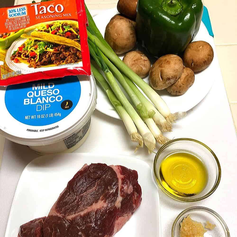 low carb steak taco bowl ingredients