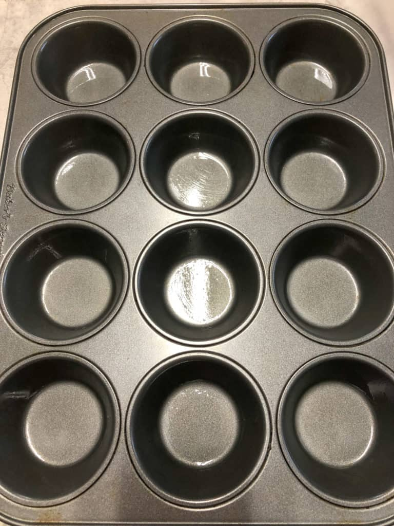 greased muffin pan