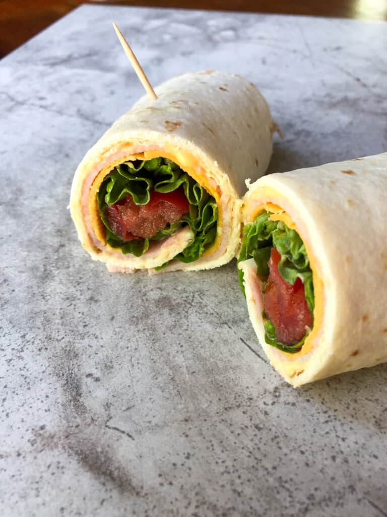 turkey roll up halves