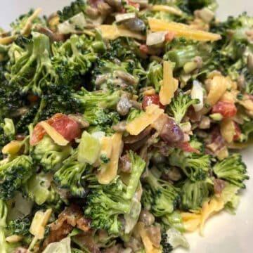 broccoli salad closeup