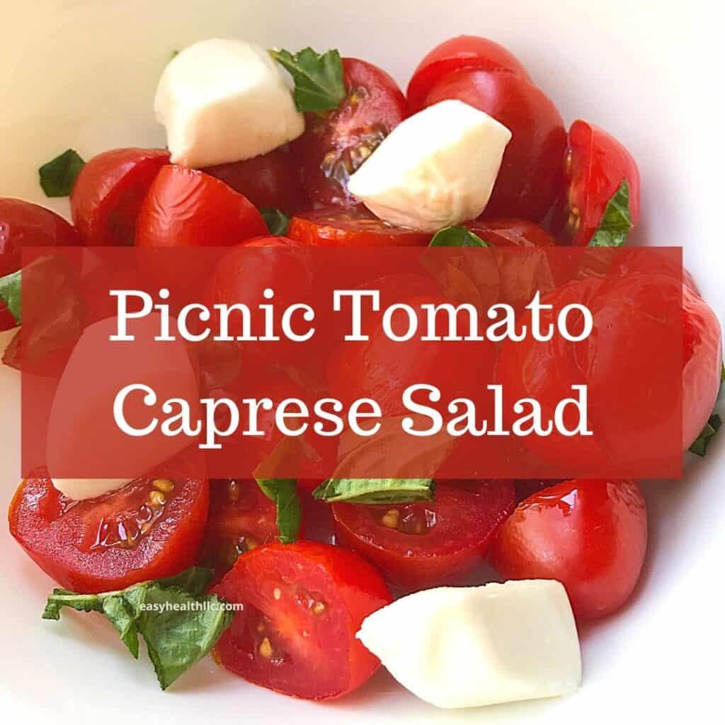 tomato caprese salad closeup