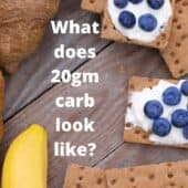 close up of healthy carbs with text